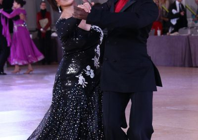 Cuple dancing at a dance contest
