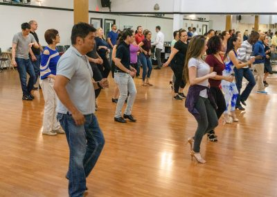 Group dance lessons at Crown Dance studio