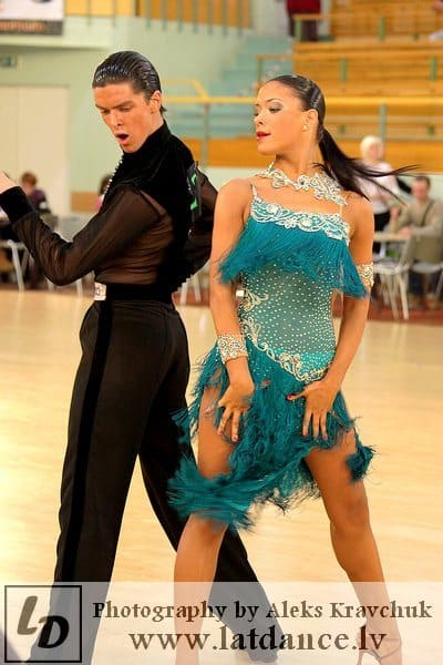 Couple is dancing International latin dance