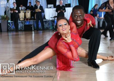 Abraham Sannoh and his partner at a dance competition