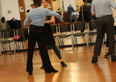 Dance Class two couples are dancing