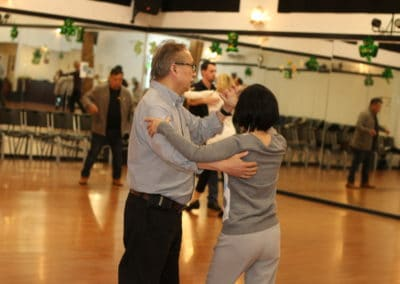 A couple dancing at crown Dance Studio